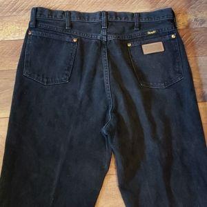 Mens Black Wrangler Jeans Size 36x36